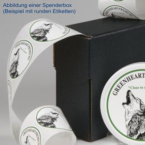 Sticker in Spenderbox